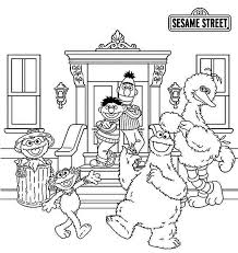 Small Picture Picture of Sesame Street Coloring Page Picture of Sesame Street