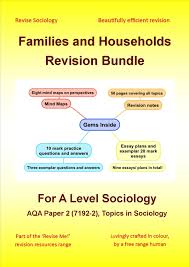 revise sociology com a level sociology families and households revision bundle