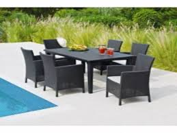 lima 6 seater patio furniture dining set black ideas