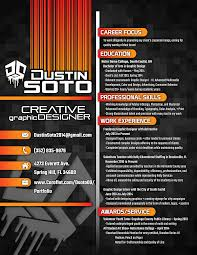 creative design resumes graphic design resume by dustin soto at coroflot com