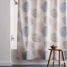 Drifting Leaves 300-Thread Count Organic Percale Shower Curtain