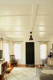 diybeadboardlivingroomceilingvialifestyleand designonlineremodelista beadboard ceiling living room d62 living