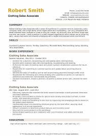 Sales Associate Resume Clothing Sales Associate Resume Samples Qwikresume