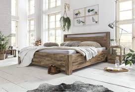 Woodkings Bett 180x200 Havelock Doppelbett Akazie Rustic