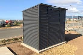 horizontal corrugated skillion roof shed