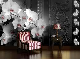 Fotobehang Bloemen Orchidee Zwart 208x146cm Fotobehangartnl