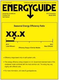 Eer Rating Chart 2018 Seer Seasonal Energy Efficiency Rating Defined