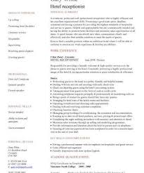 Download Receptionist Resume Sample