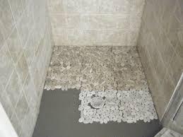 pebble stone for shower floor tile flooring ideas intended prepare porcelain mosaic outdoor tiles travertine bathroom