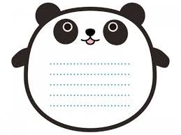 パンダのメモ帳風フレーム飾り枠イラスト 無料イラスト かわいいフリー
