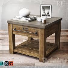 zinc top mercantile side table 28sq