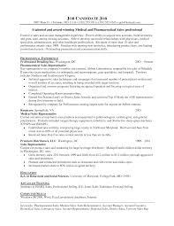Pharmaceutical Sales Resume Example Resume Templates