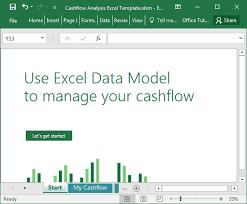 Cash Flow Chart Excel Cashflow Analysis Excel Template