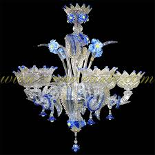24 6 murano glass chandelier in crystal prepare 2