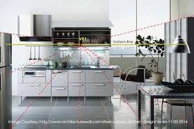 kitchen 1 point perspective. image 174 3d visualization of a contemporary kitchen design in onepoint perspective 1 point