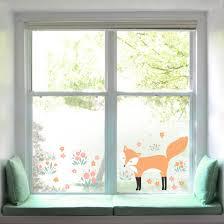Fensterfolie Fenstersticker Forest Friends Mit Fuchs Fensterbild