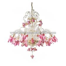 delizia 8 lights pink flowers murano glass chandelier