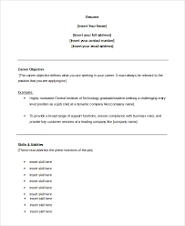 Objective For Resume Sample Customer Service Objective 100 Examples In PDF Word 86