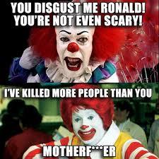 Ronald McDonald McDonalds scary clown meme | Favourite Memes ... via Relatably.com
