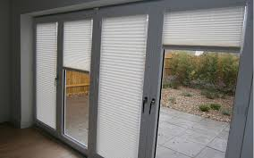patio doors with blinds in them