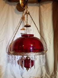antique red glass chandelier light fixture 1960 s for in everett wa offerup