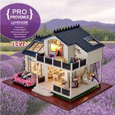 building doll furniture. Diy Doll House PROVENCE Miniature Wooden Building Model Dollhouse Furniture Toys For Children Brithday Gift D