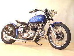triumph bonneville bobber with bolt on hardtail frame section by
