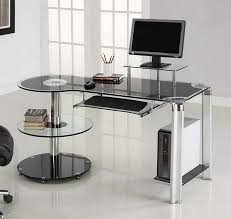 image of ikea modern glass desk