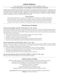 Construction Project Coordinator Resume Project Management Executive ...