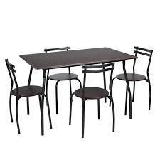 Amazoncom Furniturer 5pcs Dining Table Set Rectangle Dining Table