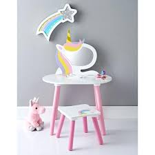 vanities childrens wooden vanity table unicorn vanity set wooden pink white dressing table with mirror