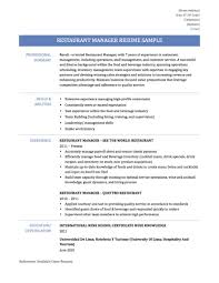 8 Good Restaurant Resume Invoice Template Download 24 Saneme