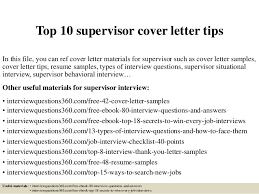 top  supervisor cover letter tipstop  supervisor cover letter tips in this file  you can ref cover letter materials