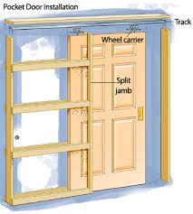 single pocket doors. cool single pocket doors and installing a door how to install house diy advice