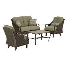 patio furniture sets walmart. Sturdy Hanover Outdoor Furniture Shop Ventura 4 Piece Wicker Frame Patio Sets Walmart S