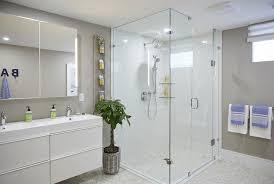 a shower instead of a bathtub