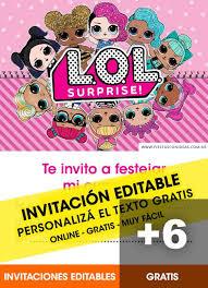 Aplicaciones Para Hacer Invitaciones Gratis 6 Tarjetas De Cumpleaños De Lol Surprise Gratis Para Editar