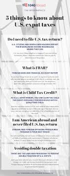 5 Things To Know About U S Expat Taxes Tax Infographics