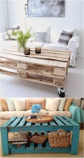 two pallet coffee tables