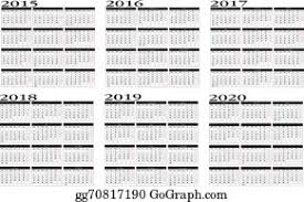 2020 Calendar Clip Art Royalty Free Gograph