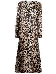 Ganni Dresses Long Dress Silk Dress Animalier