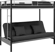loft over futon. amazon.com: dhp silver screen twin-over-futon metal bunk bed with ladder - silver/black: kitchen \u0026 dining loft over futon w