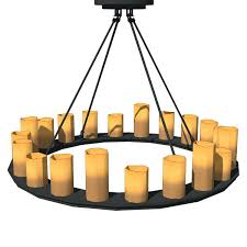 pillar candle chandelier natural looking faux candles in diffe shapes a pillar candle chandelier diy