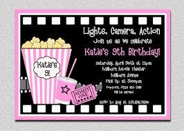 Movie Invitation Template Free Extraordinary Movie Birthday Party Invitation Template Free 24 17