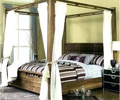 Wood Canopy Bed King Black Wood Canopy Bed King Medium Size Of ...