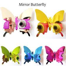 12pcs lot PVC DIY <b>Wall Sticker New 3D</b> Mirror Butterfly Sticker for