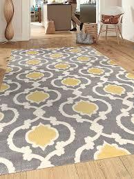 extraordinary yellow gray area rug com rug moroccan trellis contemporary 7 10