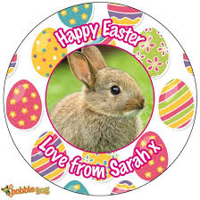 Thank You Easter Personalised Happy Easter Bunny Egg Chocolate Thank You Party Bag Gift Tag Sticker Ref E2