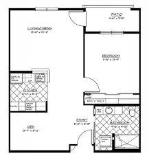 Wonderful 1 Bedroom W/Den Floor Plan (D) ...