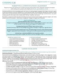 marketing best executive resume format